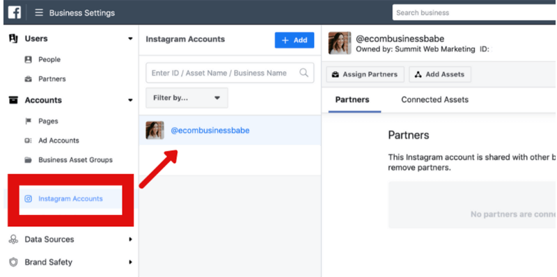 how to remove Instagram account from Facebook Business Manager