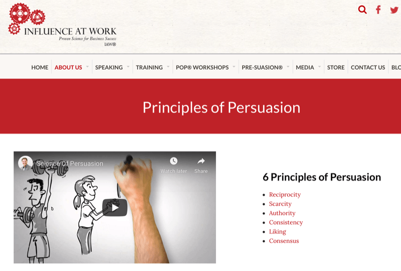 Robert Cialdini's six principles of persuasion