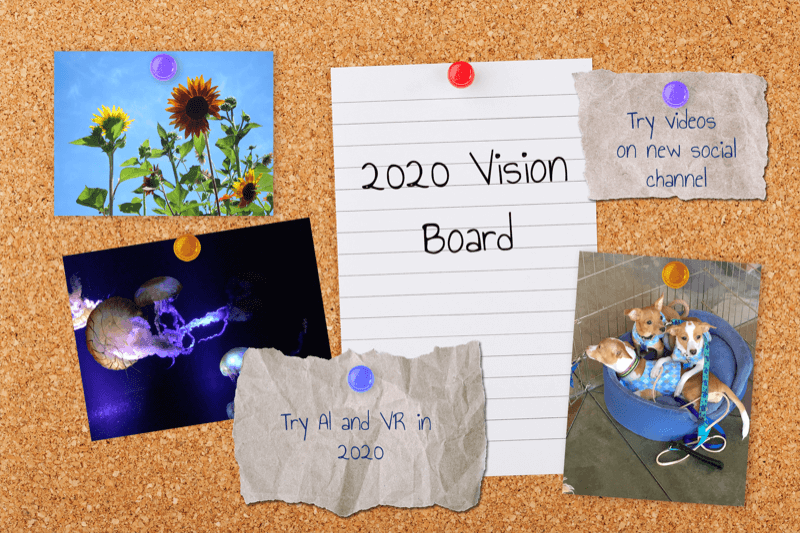 example of vision board of marketing initiatives