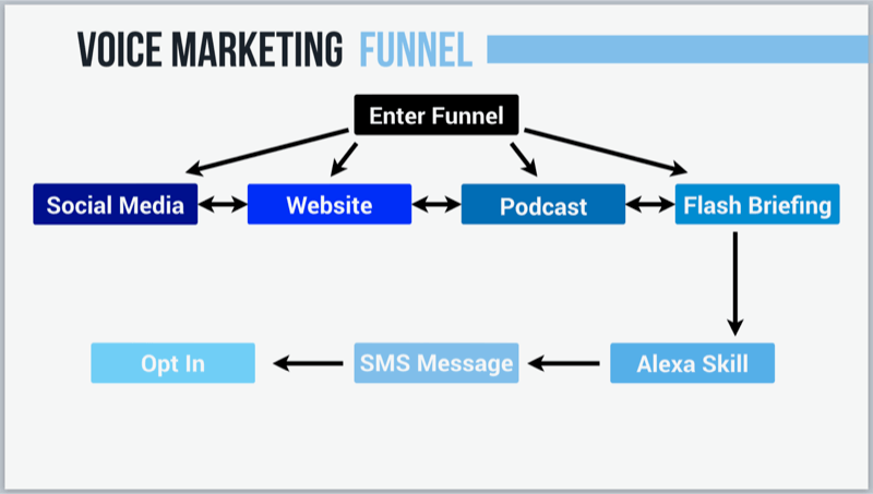 graphic showing voice marketing strategy
