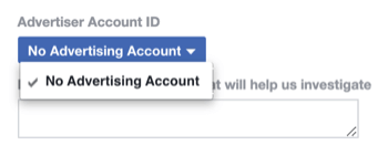 step 2 of how to fill out Facebook policy disabled ad account form