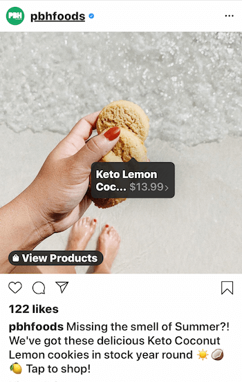 example of Instagram business post with strong call to action