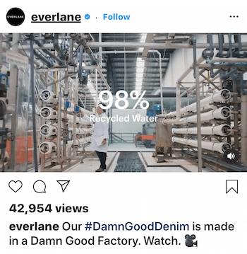 Instagram video post for Everlane