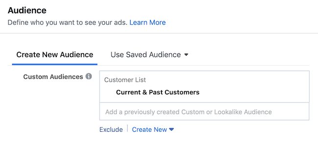 step 2 of how to set up Facebook engagement campaign to promote customer survey