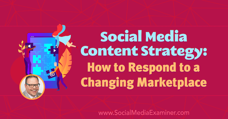 Social Media Content Strategy: How to Respond to a Changing Marketplace featuring insights from Jay Baer on the Social Media Marketing Podcast.