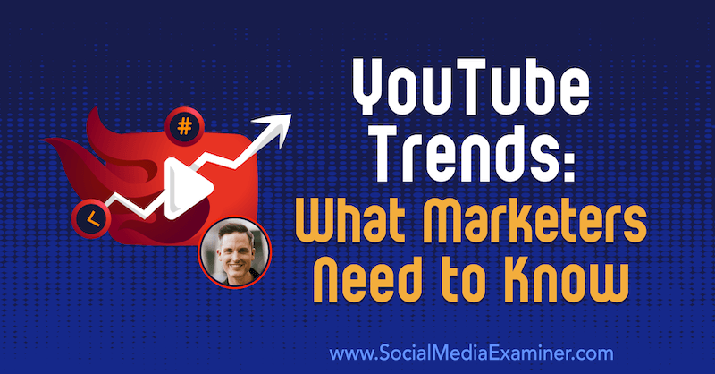 YouTube Trends: What Marketers Need to Know featuring insights from Sean Cannell on the Social Media Marketing Podcast.