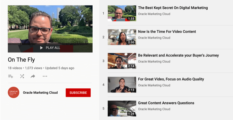 Oracle Marketing Cloud YouTube series On the Fly