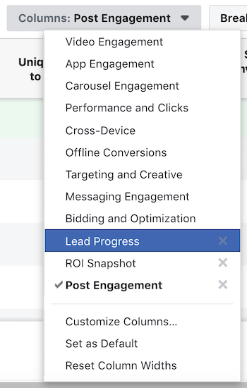 how to access Facebook custom report