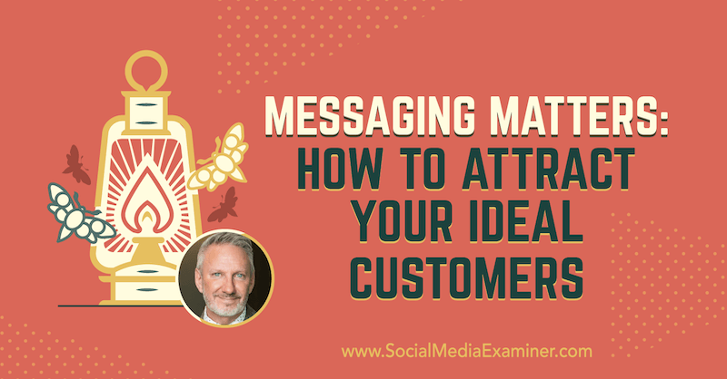 Messaging Matters: How to Attract Your Ideal Customers featuring insights from Jeffrey Shaw on the Social Media Marketing Podcast.