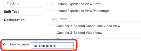 create lead progress custom report in Facebook Ads Manager, step 5