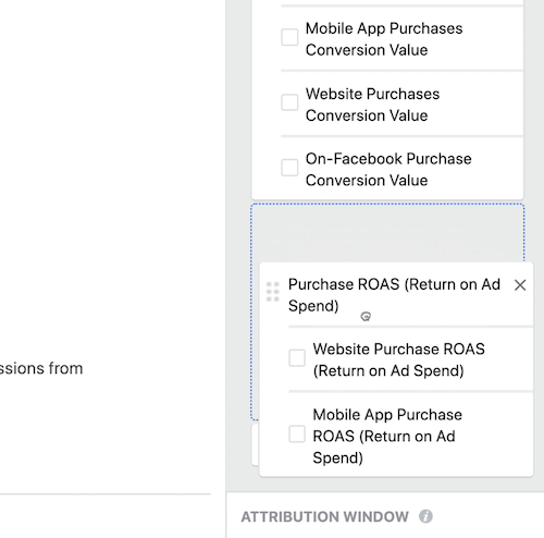 create ROI snapshot custom report in Facebook Ads Manager, step 7