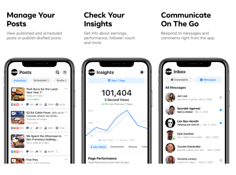 Facebook launched a new Creator Studio mobile app for iOS and Android. A companion to its Creator Studio desktop hub.