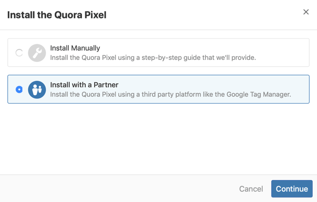 step 2 of how to install Quora pixel with Google Tag Manager