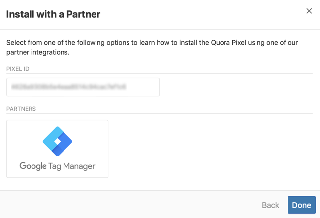 step 3 of how to install Quora pixel with Google Tag Manager