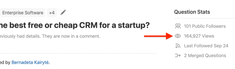 step 4 of how to evaluate question for Quora ad targeting
