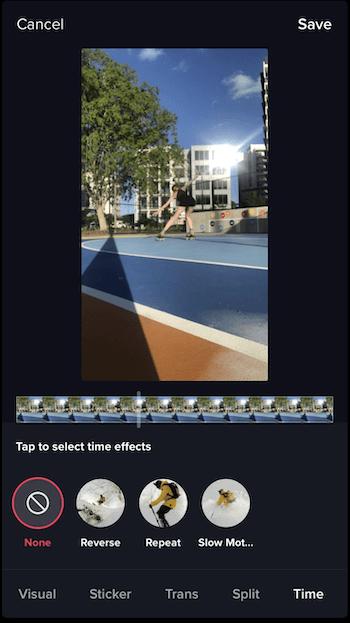 TikTok-tijdeffecten