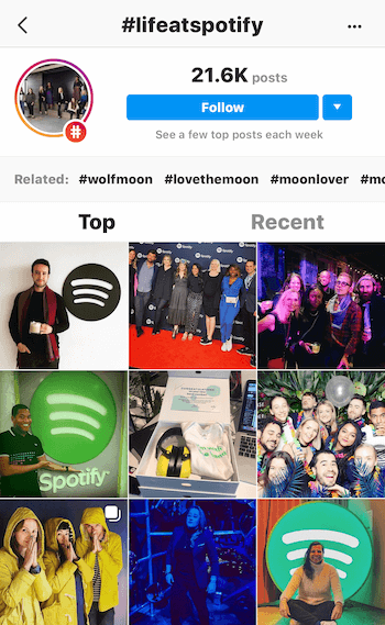 Instagram posts with lifeatspotify hashtag