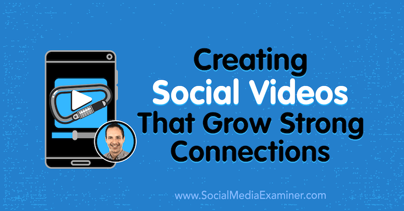 Creating Social Videos That Grow Strong Connections featuring insights from Matt Johnston on the Social Media Marketing Podcast.
