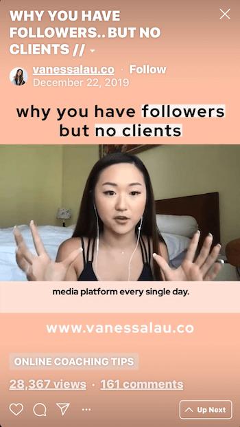 Vanessa Lau IGTV Instagram video