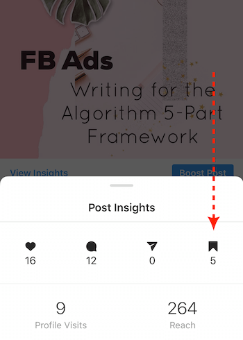 Post Insights for Instagram business post