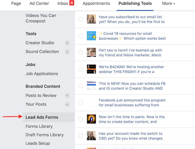 为Facebook潜在客户生成活动下载潜在客户