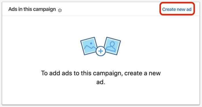 Maak een nieuwe advertentie-optie voor het instellen van LinkedIn-conversatie-advertenties