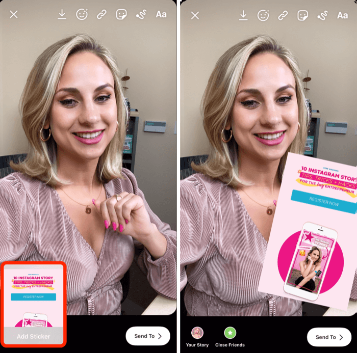 add extra image to Instagram story