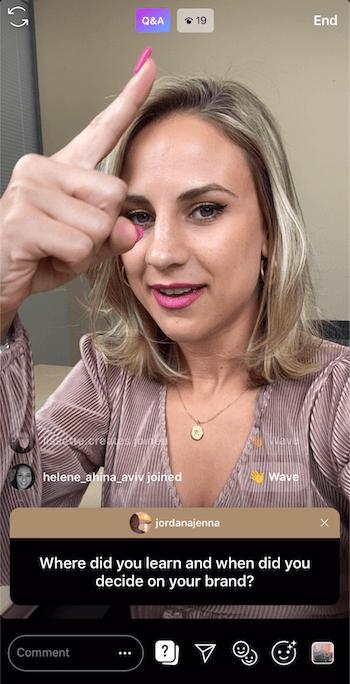 Q&A op Instagramverhalen