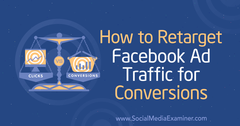 How to Retarget Facebook Ad Traffic for Conversions by Charlie Lawrance on Social Media Examiner.