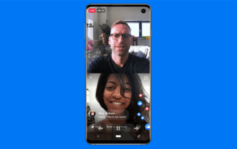 Facebook is bringing back Live With, which allows Page admins or profile owners to select a guest to go live with them during a mobile broadcast.