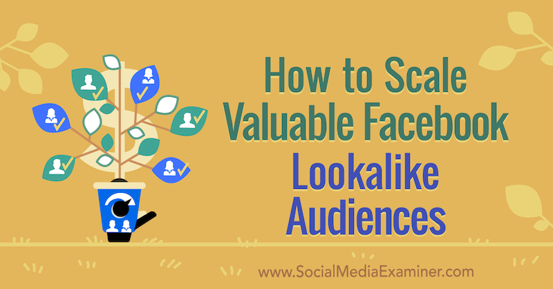 How to Scale Valuable Facebook Lookalike Audiences by Yahav Hartman on Social Media Examiner.