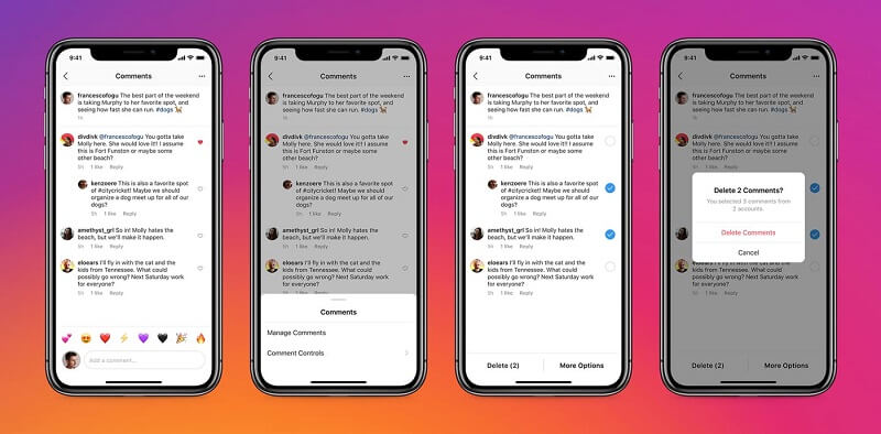 Instagram users can now quickly filter negative comments in bulk as well as highlight positive ones. The platform is also adding new controls to manage who can tag or mention your account on Instagram.
