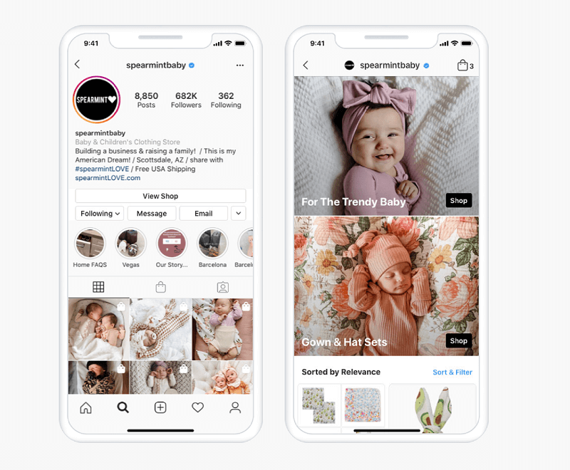 Starting summer in the U.S., Instagram Shop allowing users to browse products and explore collections directly a dedicated shopping tab found within from Instagram Explore that will take users directly to a brand's shop or shoppable posts.