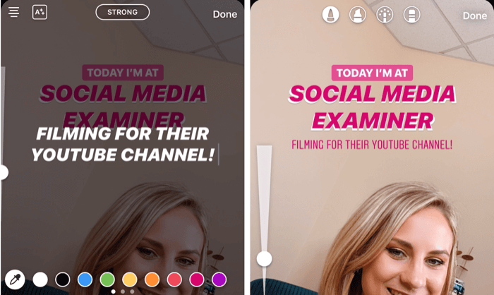 customize text in Instagram Stories