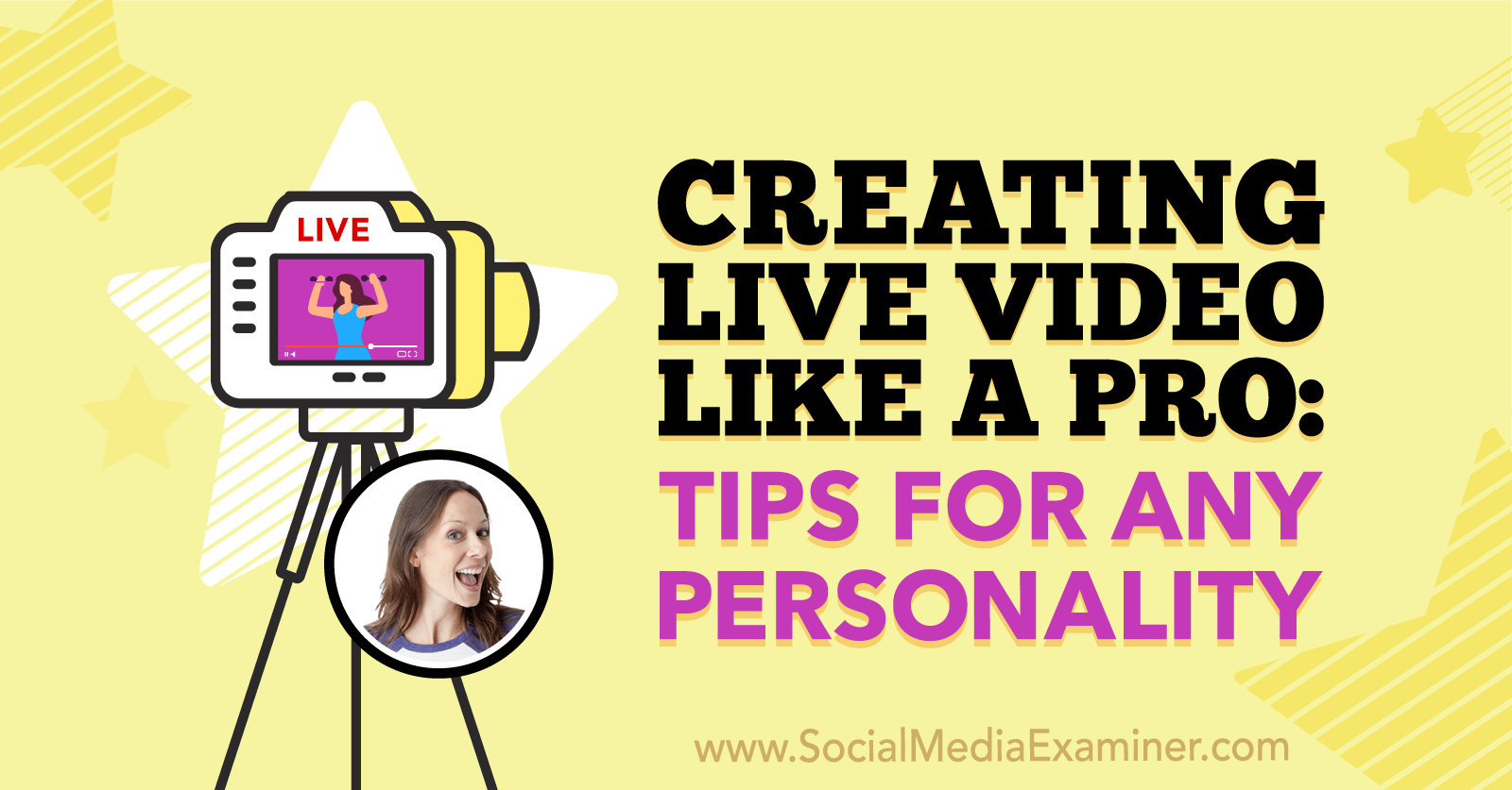 Creating Live Video Like a Pro: Tips for Any Personality featuring insights from Luria Petrucci on the Social Media Marketing Podcast.