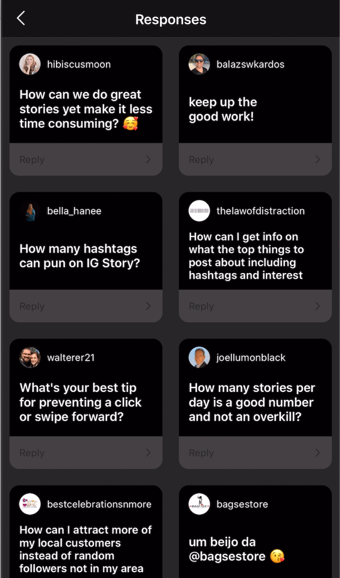 add multiple Questions sticker responses to Instagram story image