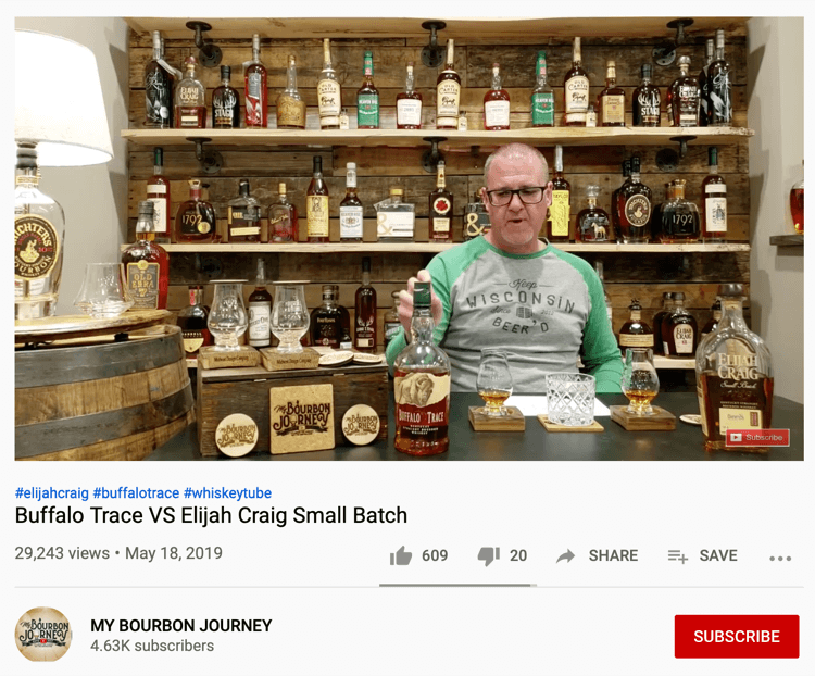 My Bourbon Journey YouTube video
