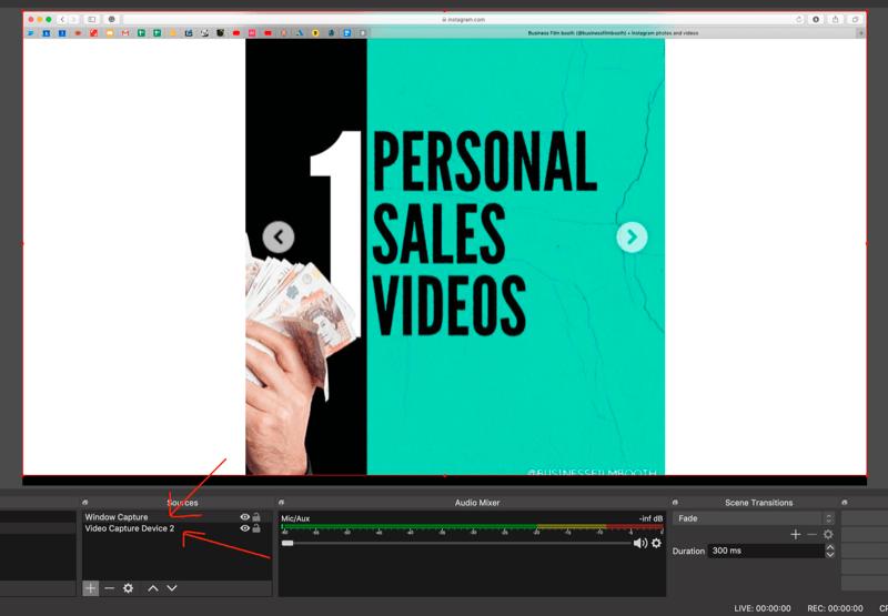select scene with slides in OBS Studio