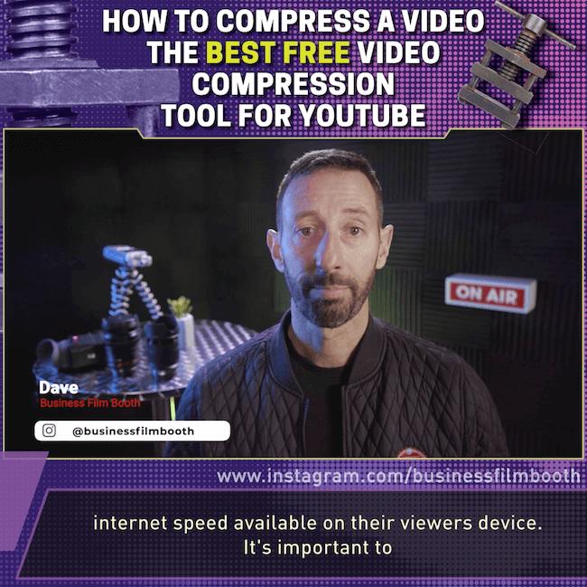 example of social media video inserted in branded frame