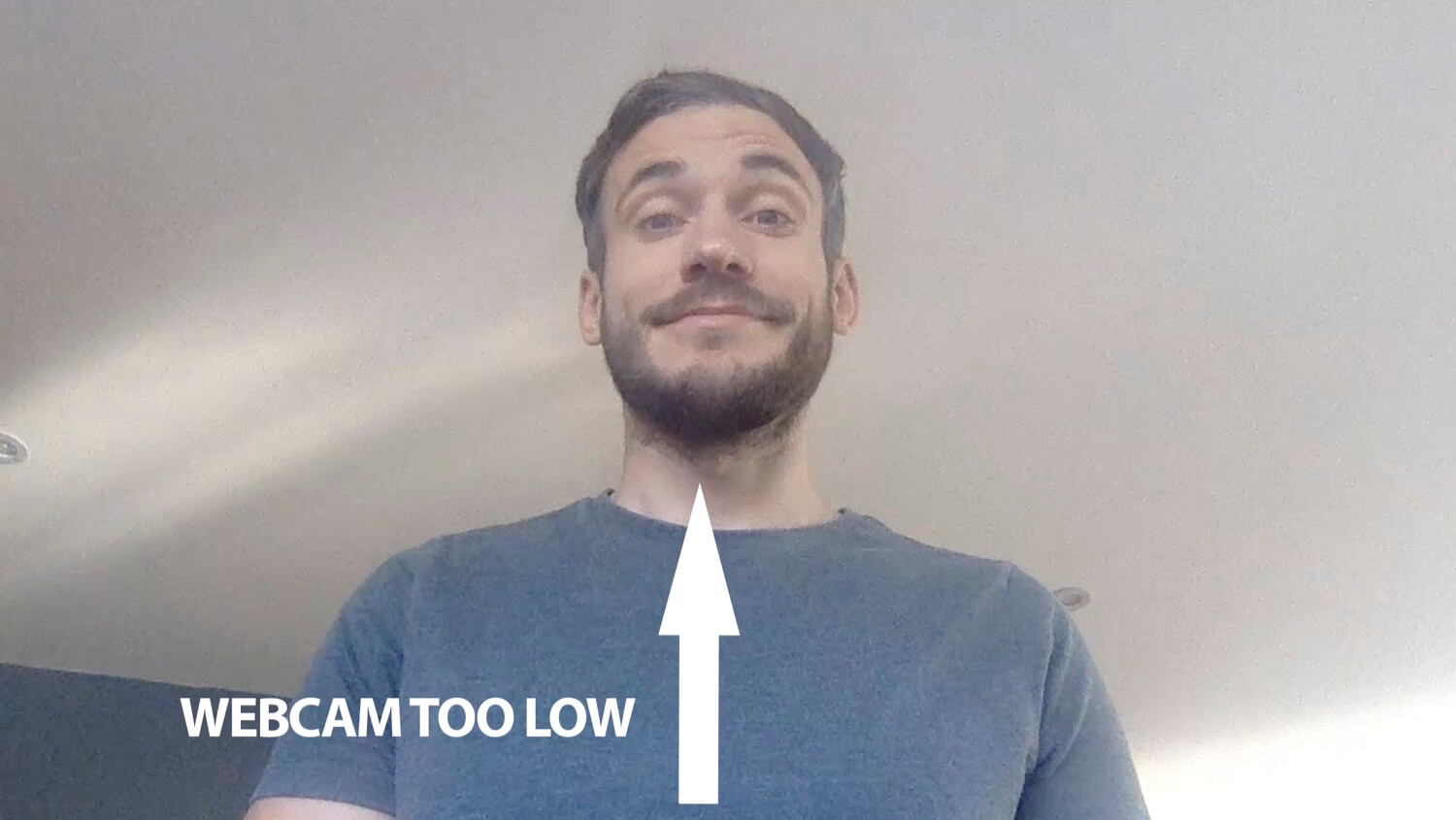 the effect of a webcam positioned too low