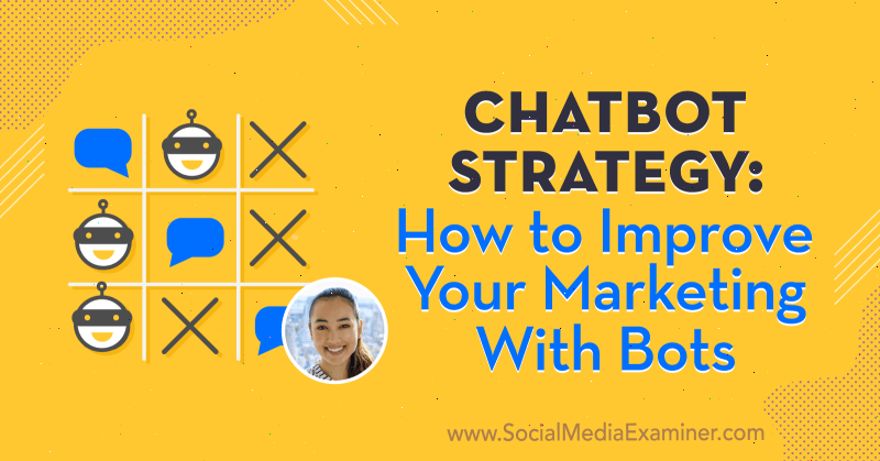 Chatbot Strategy: How to Improve Your Marketing With Bots featuring insights from Natasha Takahashi on the Social Media Marketing Podcast.