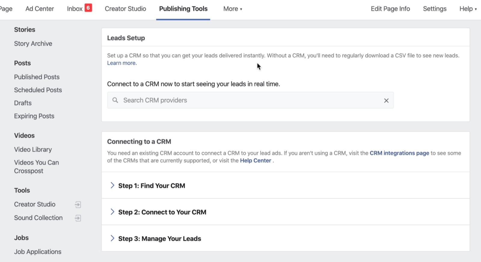将CRM连接到Facebook