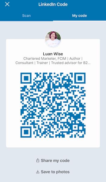 LinkedIn Code screen