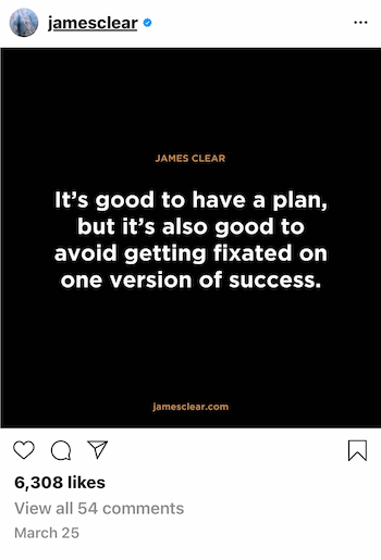 example of Instagram business post with quote