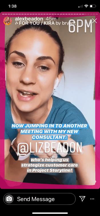 anticipatie op instagramverhalen