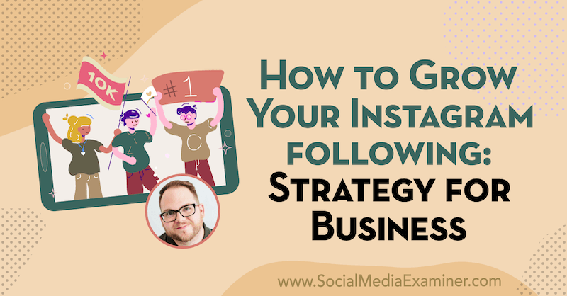 How to Grow Your Instagram Following: Strategy for Businesses featuring insights from Tyler J. McCall on the Social Media Marketing Podcast.