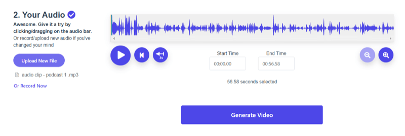 generate video in Wavve