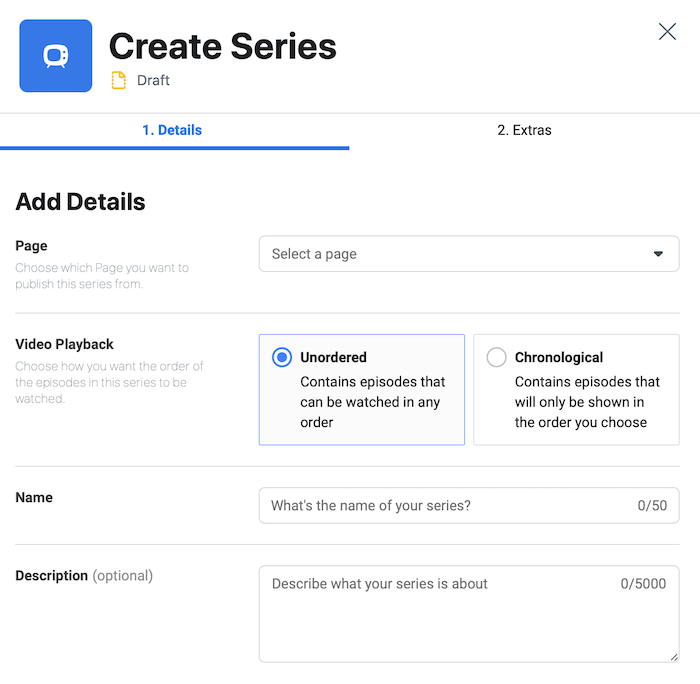 create video series in Creator Studio
