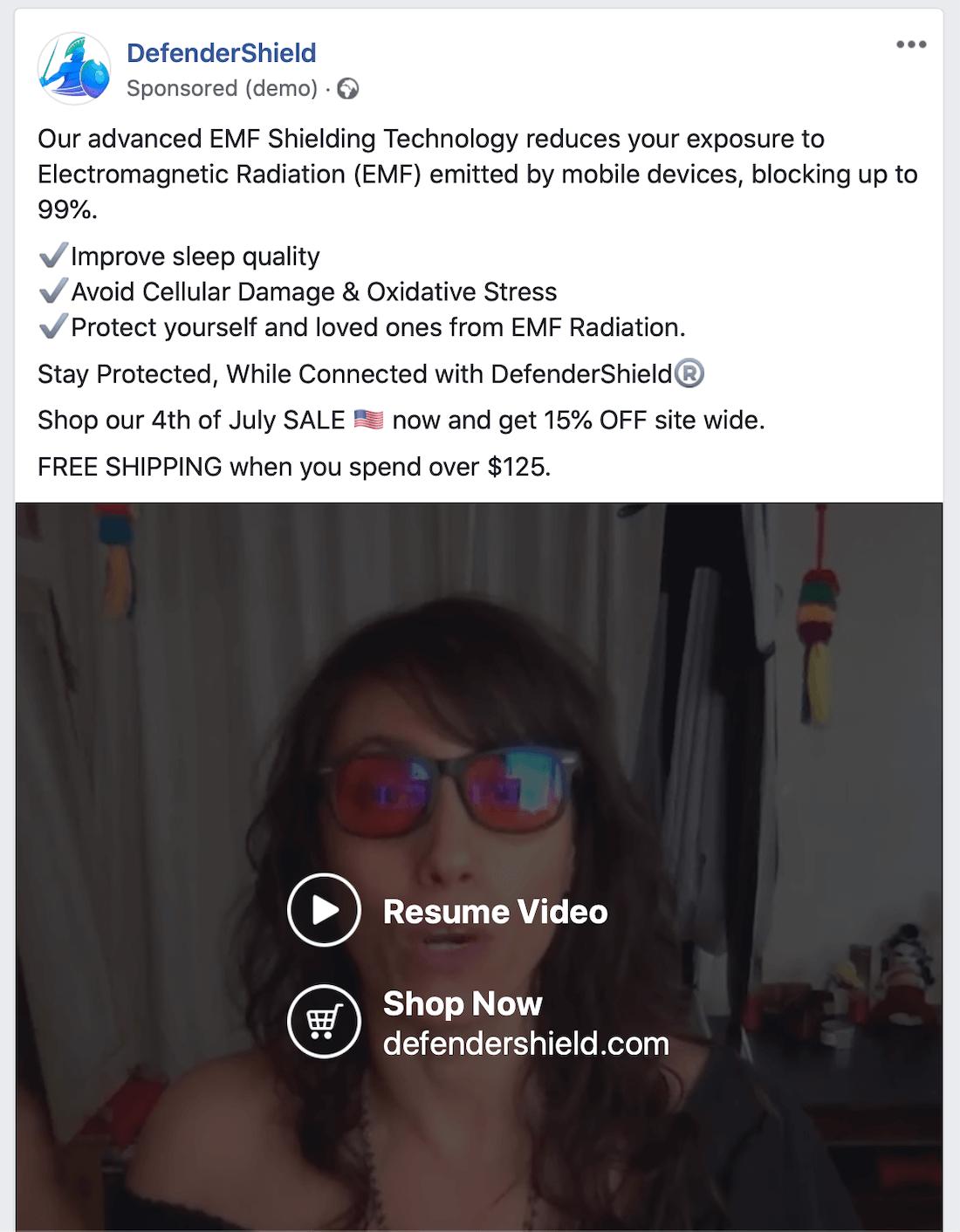 视频推荐广告示例