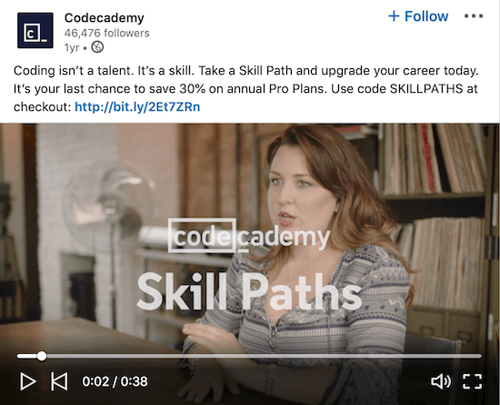 LinkedIn video testimonial